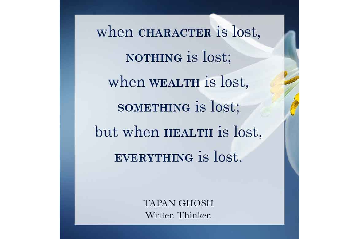 character is lost everything is lost